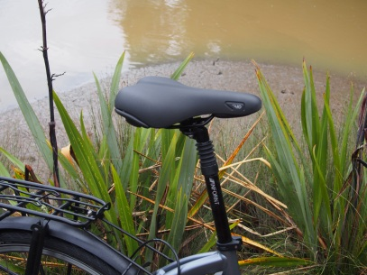 Comfy saddle on a suspension post