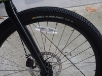 Rigid form meets bouncy balloon tyre with plenty of grip