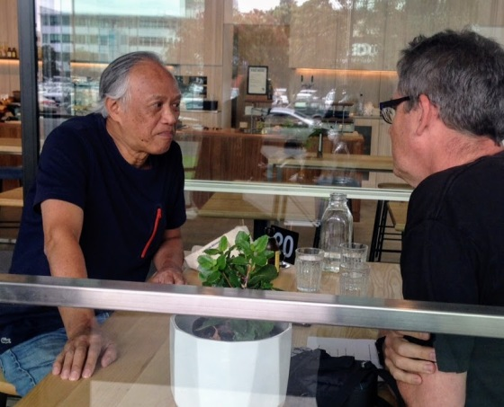 Wai Won Ching talks to ElectricBazza (photo: Maurice Wells)