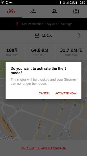 You can remotely disable the bike and track it by GPS